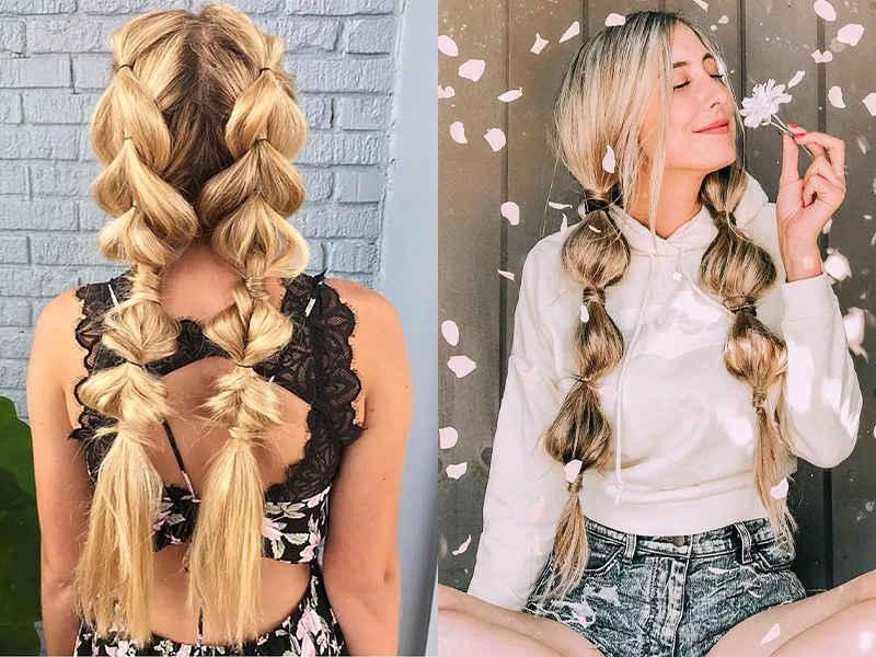bubble braid coiffure tendance